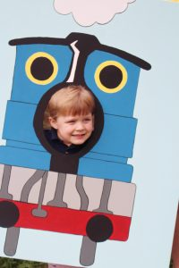 train birthday party photo prop