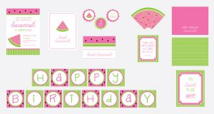 watermelon party printables