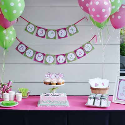 "Watermelon Birthday Party- ""It's Sweet to be Seven!"""