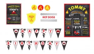 fireman birthday party printables