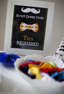 bow tie station at a little hipster man party