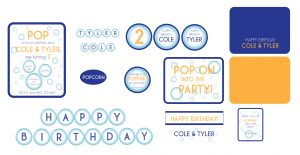 bubble party printables