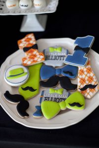 bow tie cookies at a little hipster man party