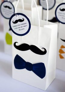 mustache and bow tie party favors
