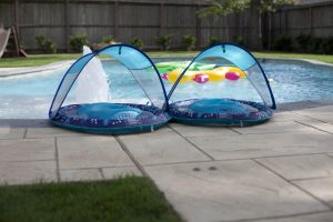 pool party ideas at a bubble birthday theme