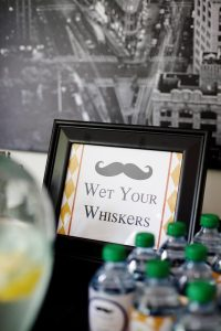 wet your whisker signage for a little hipster man party