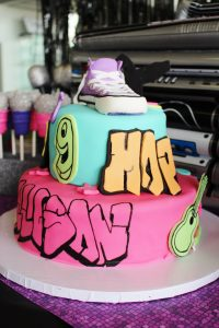 dance party cake at a hip hop party