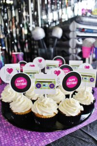 dance party cupcakes at a hip hop party