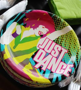 dance party plates at a hip hop birthday party