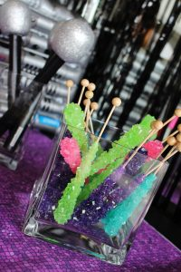 rock candy at a hip hop party