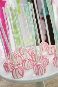 cakeballs at a woodland fairy birthday party