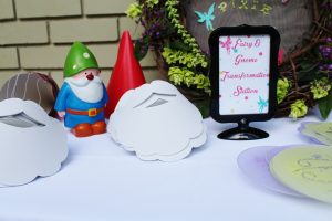 fairy transformation station at a woodland fairy party