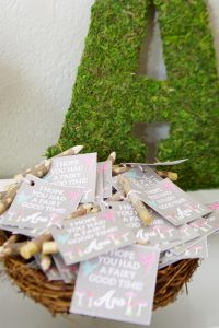 woodland fairy party favors