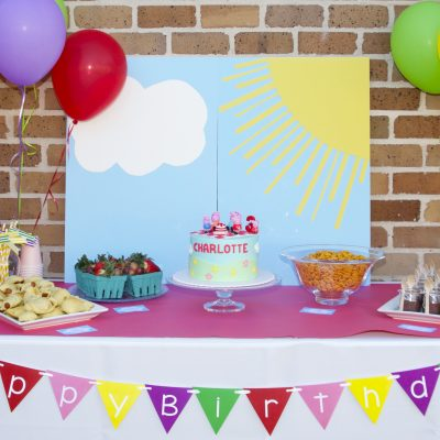 Charlotte's Peppa Pig Birthday Party- A Hot Air Balloon Episode