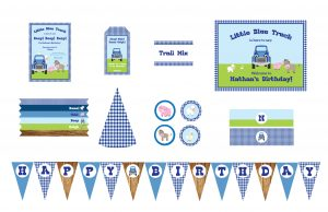 little blue truck party printables
