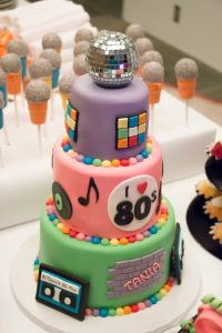 80s birthday party cake