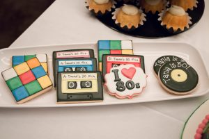 80's cookies at an 80s costume party