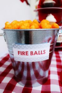 firetruck party snack ideas