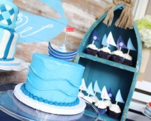 nautical party ideas and nautical smash cake