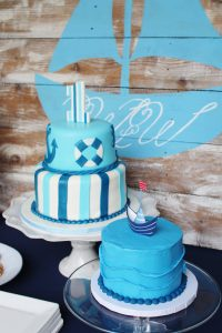 nautical birthday party cake