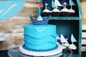 nautical birthday party ideas and nautical cake