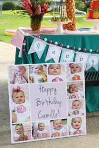 first birthday photo poster