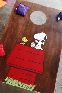 charlie brown bean bag board