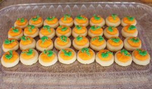 pumpkin cookies at a great pumpkin charlie brown party