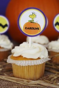 great pumpkin charlie brown cupcakes