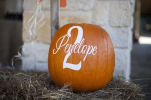 personalized pumpkin at a pumpkin birthday party