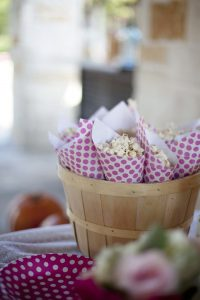 popcorn snacks at a pumpkin party