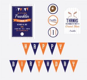 baseball party printables