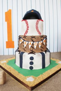 baseball birthday party cake