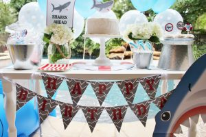 shark party ideas and shark printables
