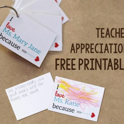 DIY Teacher Appreciation Gift Idea & FREE Printables