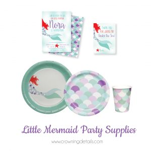 mermaid party supplies and mermaid paper plates