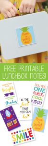 FREE printable lunchbox note