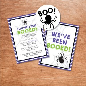 you've been booed printables