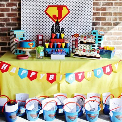 Super Jack's 3rd Birthday Party- A Superman Party!