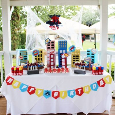 How to Throw a Super Spiderman Birthday Party