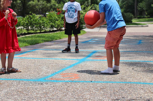 DIY chalk four square game