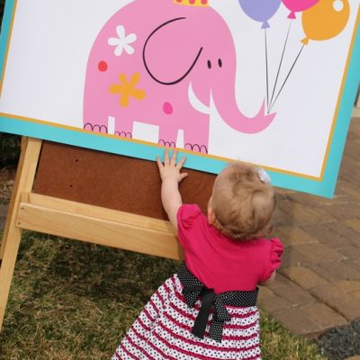 Nora's 1st Birthday-Cute Elephant Theme