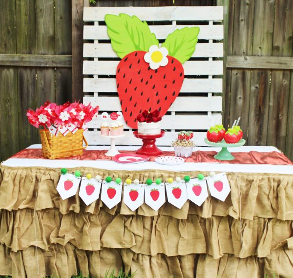 strawberry birthday party ideas
