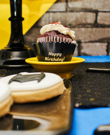 batman birthday cupcake