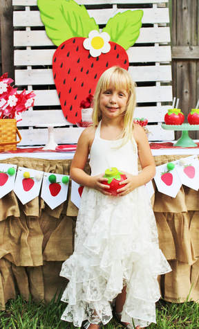 strawberry birthday party decorations