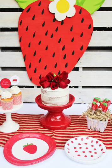 strawberry birthday party supplies