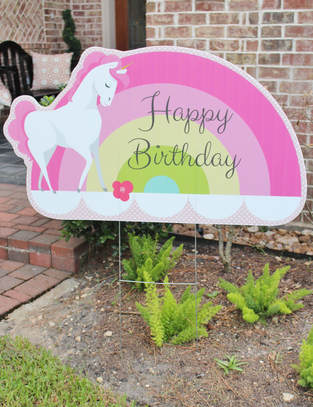 unicorn party supplies unicorn yard signage