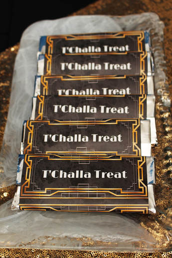 t challa treat wrappers for black panther birthday party
