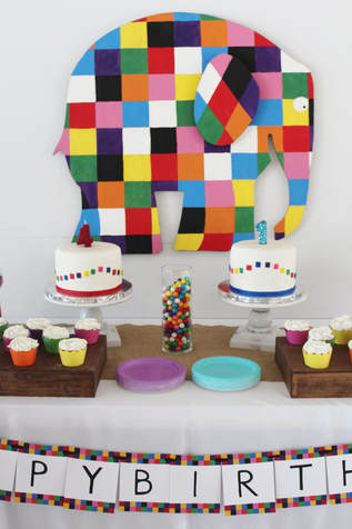 elmer the elephant joint birthday party