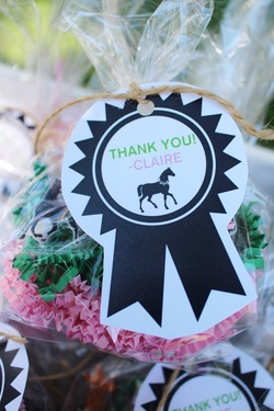 Kentucky Derby birthday party favors